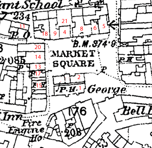 Market Square with census entries