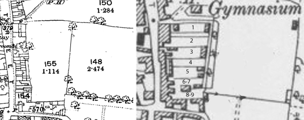 Plan of the plots of land sold off