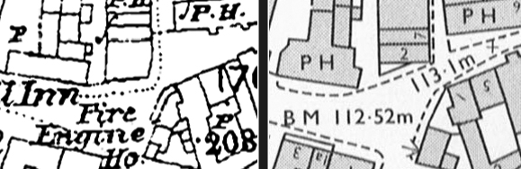 2 Horn Street on 1880 and 1978 maps