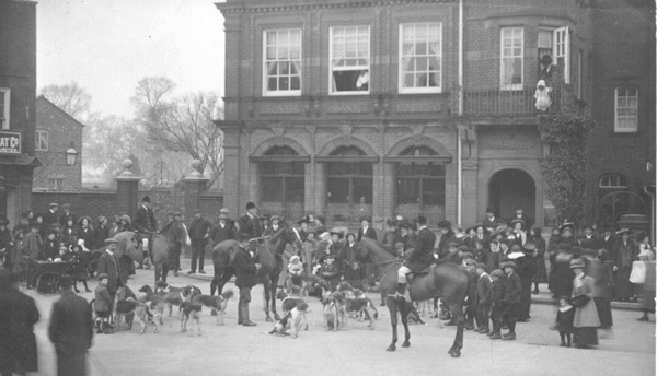 Staghounds meeting outside the Bank