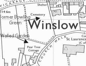Former bowling green on map of 1978