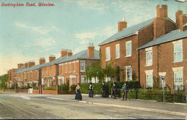 Buckingham Road, showing Nevada Villas and Alwyn House