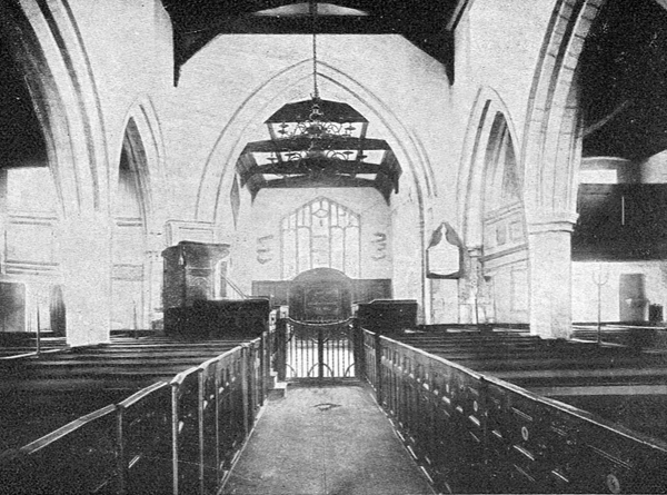 Interior of the church looking towards the chancel