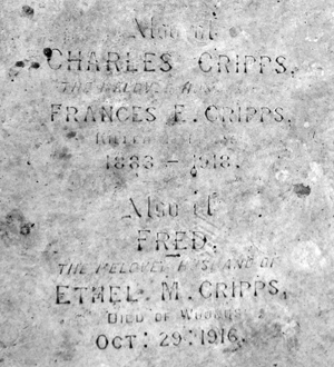 Gravestone of Charles and Fred Cripps