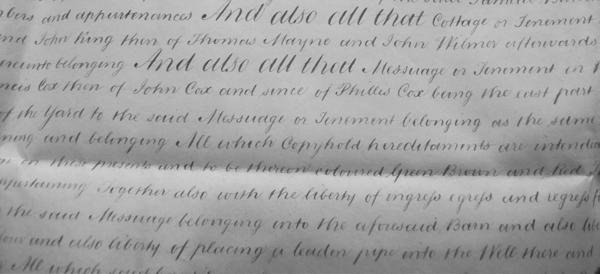 Part of the 1883 indenture