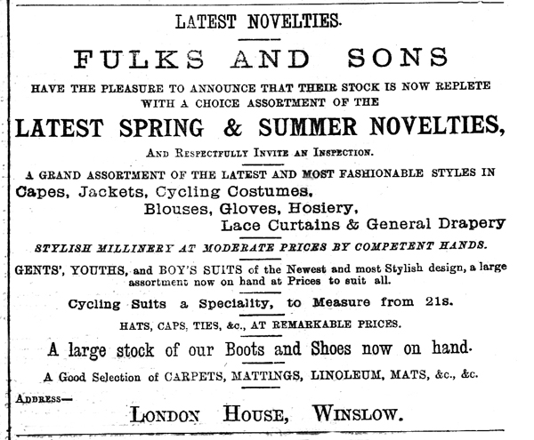 Buckingham Advertiser advert