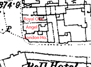 Map of London House, Angel and Royal Oak