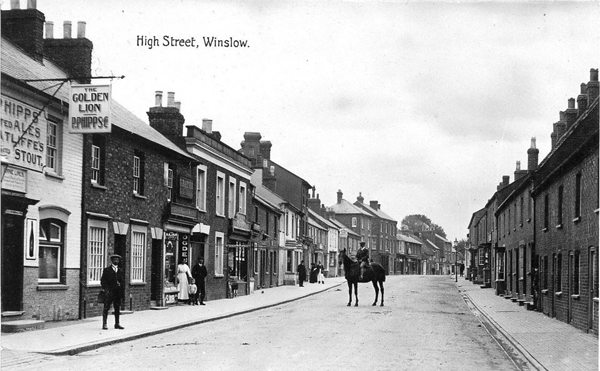 High Street with Golden Lion on left