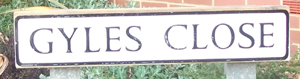 Gyles Close road sign