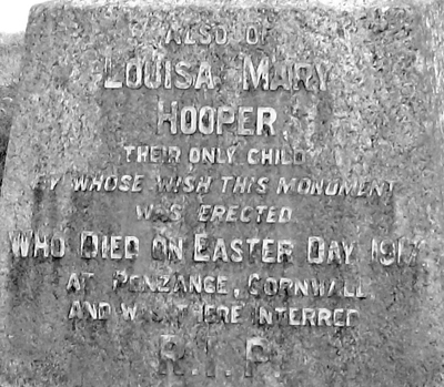 Memorial of Louisa Hooper