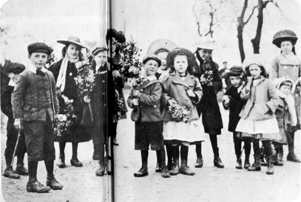 Children with May garlands