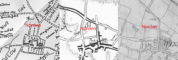 3 maps showing Norden
