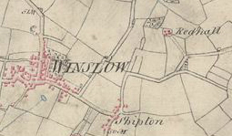 1813 map of Winslow