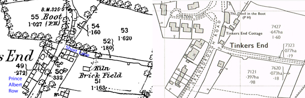 1880 and 1978 maps of Tinkers End
