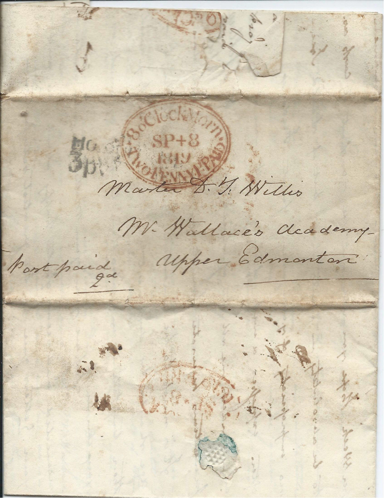 Address of the letter