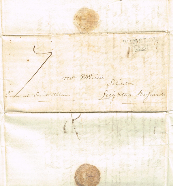 Address of Willis letter