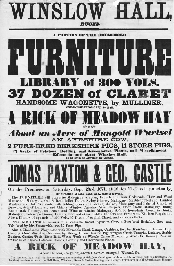 Sale poster 1871