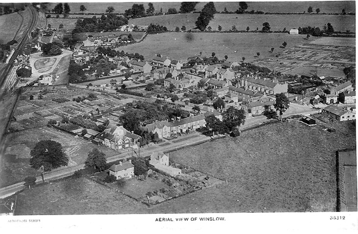 Aerial view of Buckingham Road, 1931