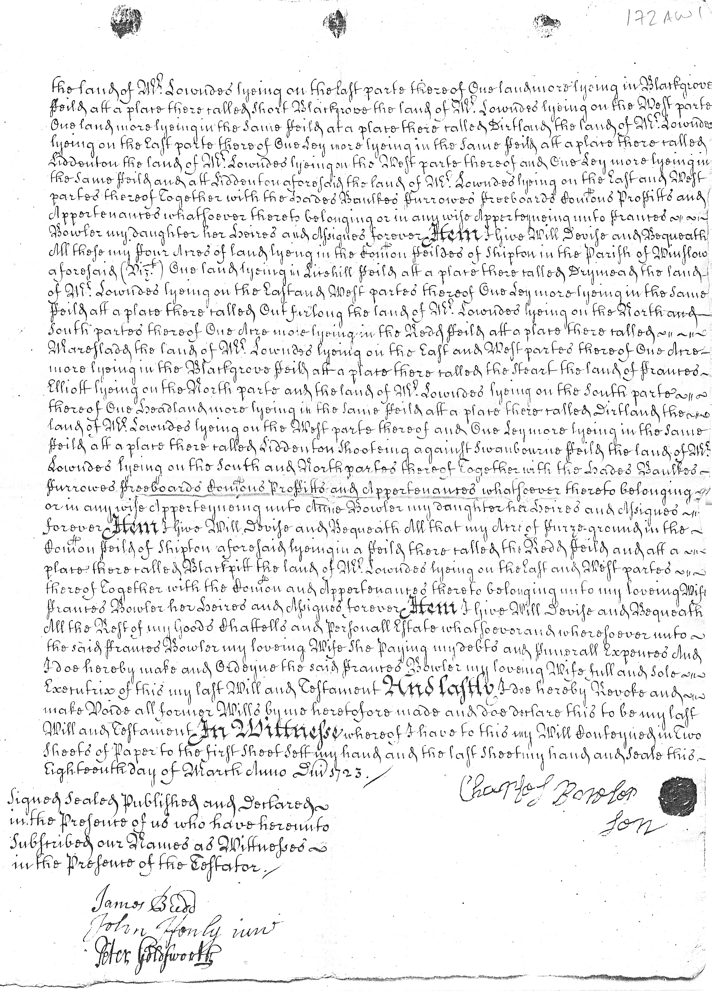 Will of Charles Bowler page 2