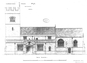 Drawing of the restored church