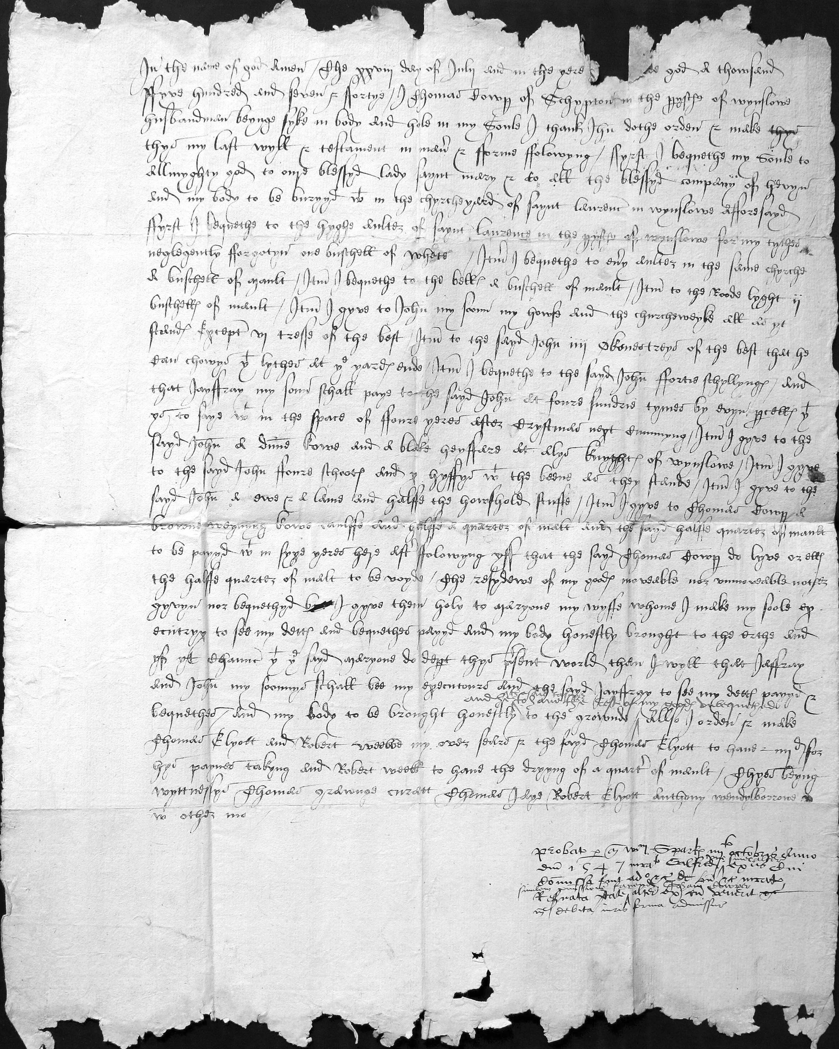 Will of Thomas Cowper