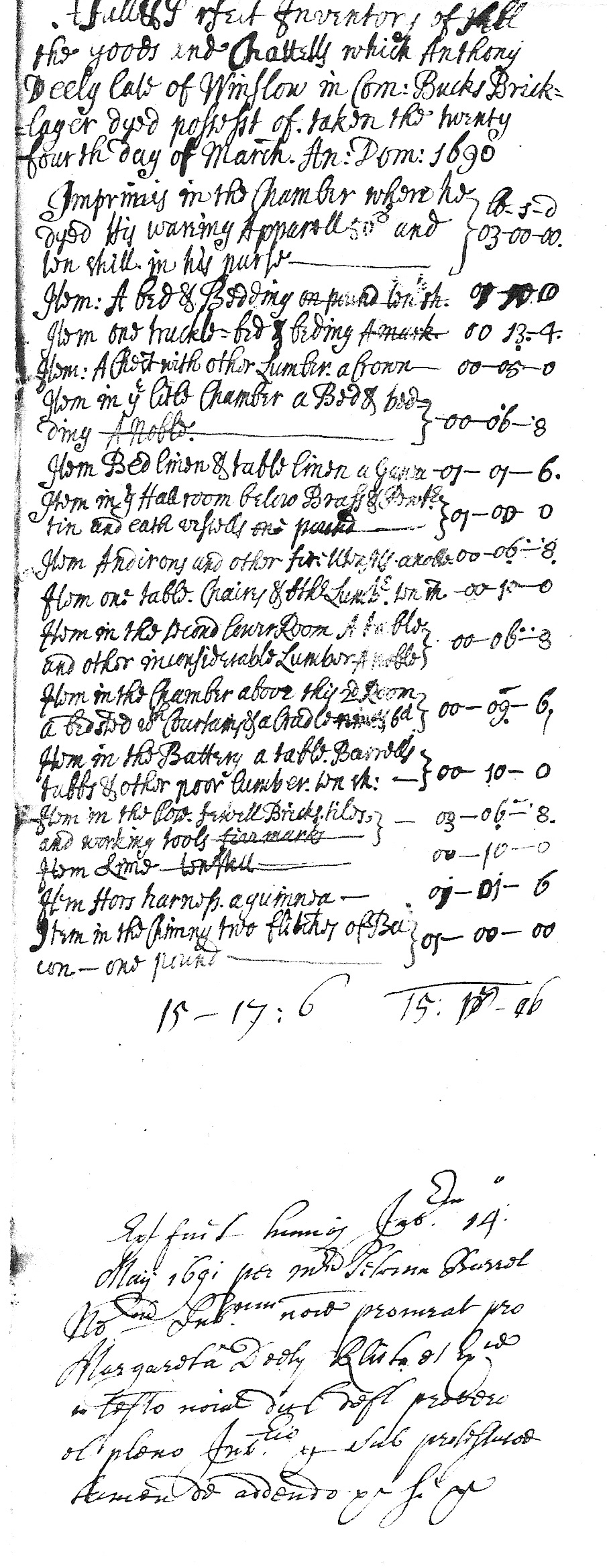 Inventory of Anthony Deely