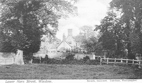 Blake House and Cottage seen from the end of Western Lane