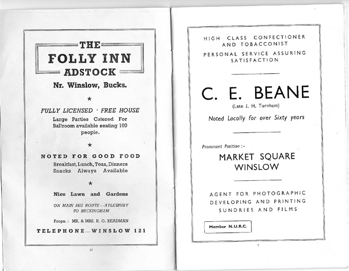 Adverts for The Folly, C.E. Beane