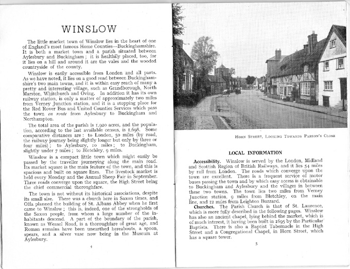 Text on Winslow, photo of Horn Street
