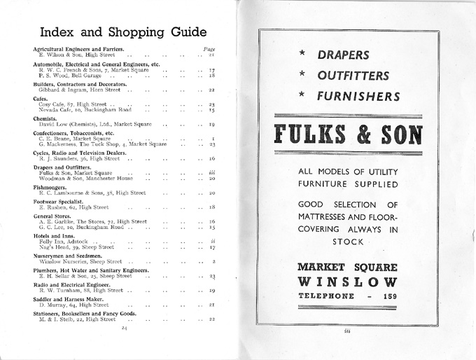 Index, advert for Fulks