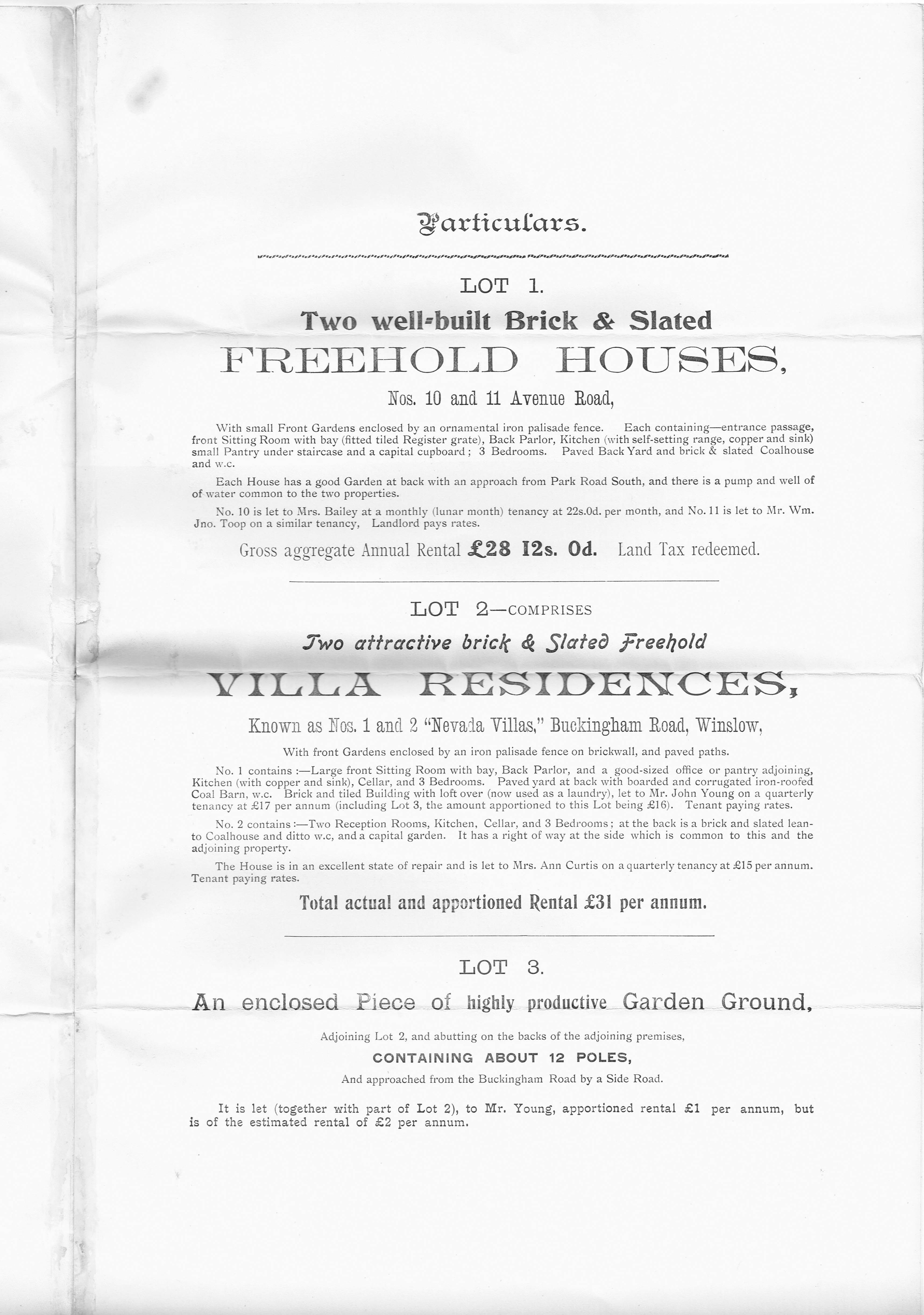 Nevada Villas sale 1909 p2
