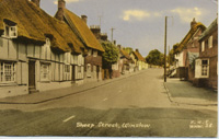 A postcard of Sheep Street (Winslow History, www.winslow-history.org.uk)