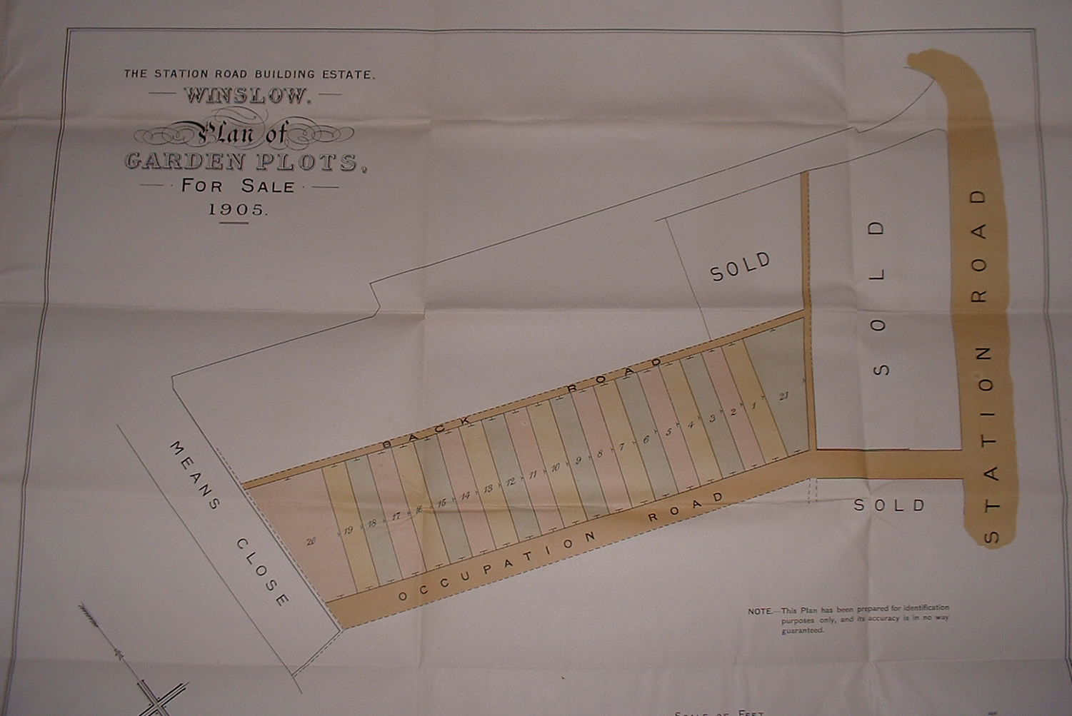 Plan from the 1906 sale