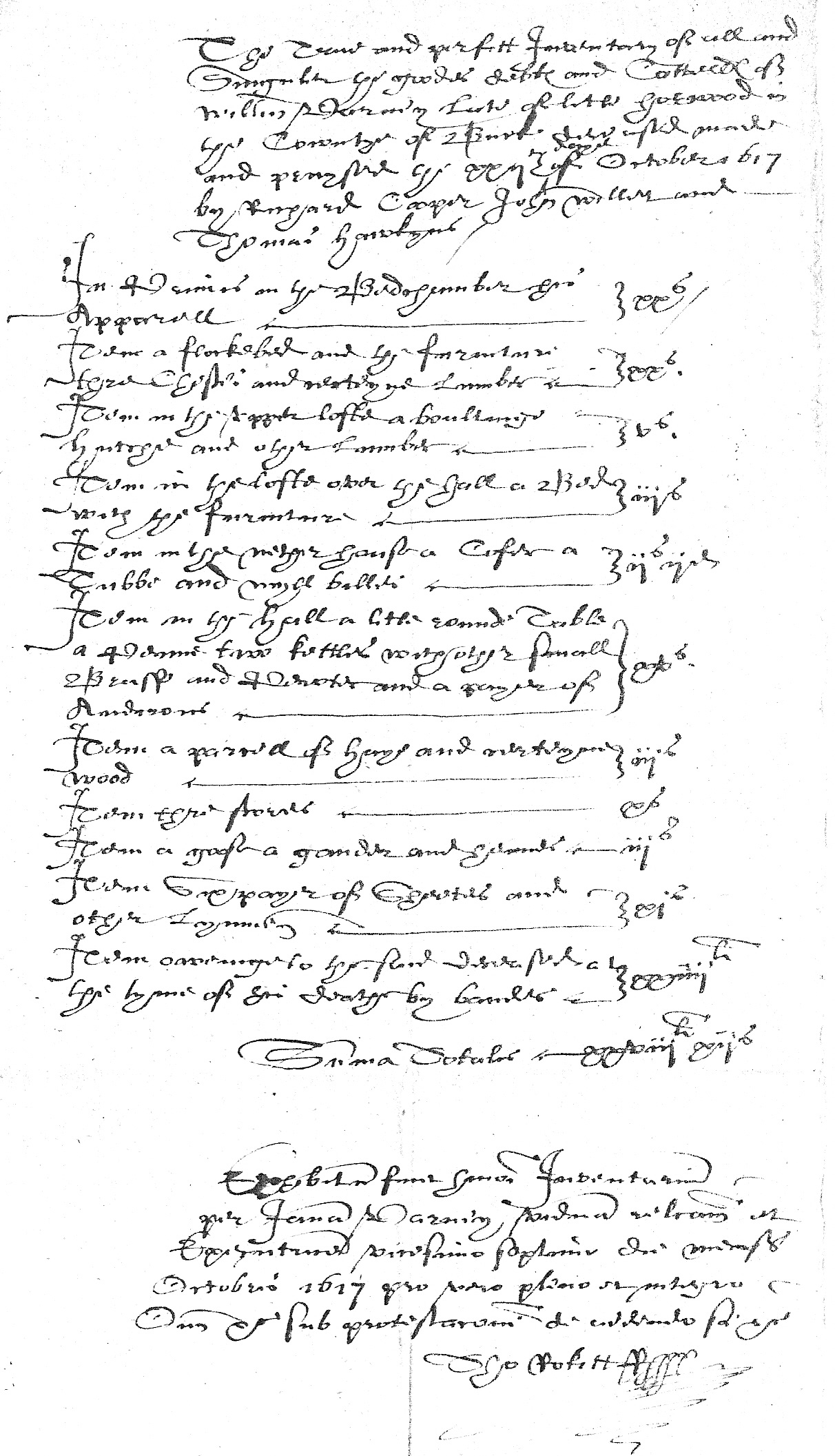 Inventory of William Varney