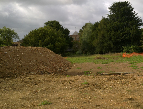 The site of the demolished vicarage