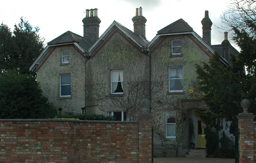 Front view of the Victorian vicarage